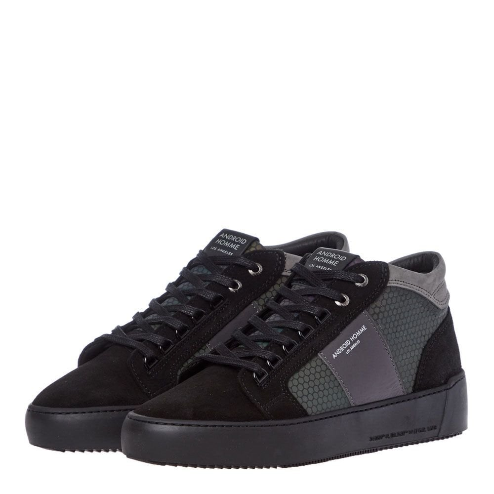 Android Homme Propulsion Mid Geo Black Hex Reflect Trainers