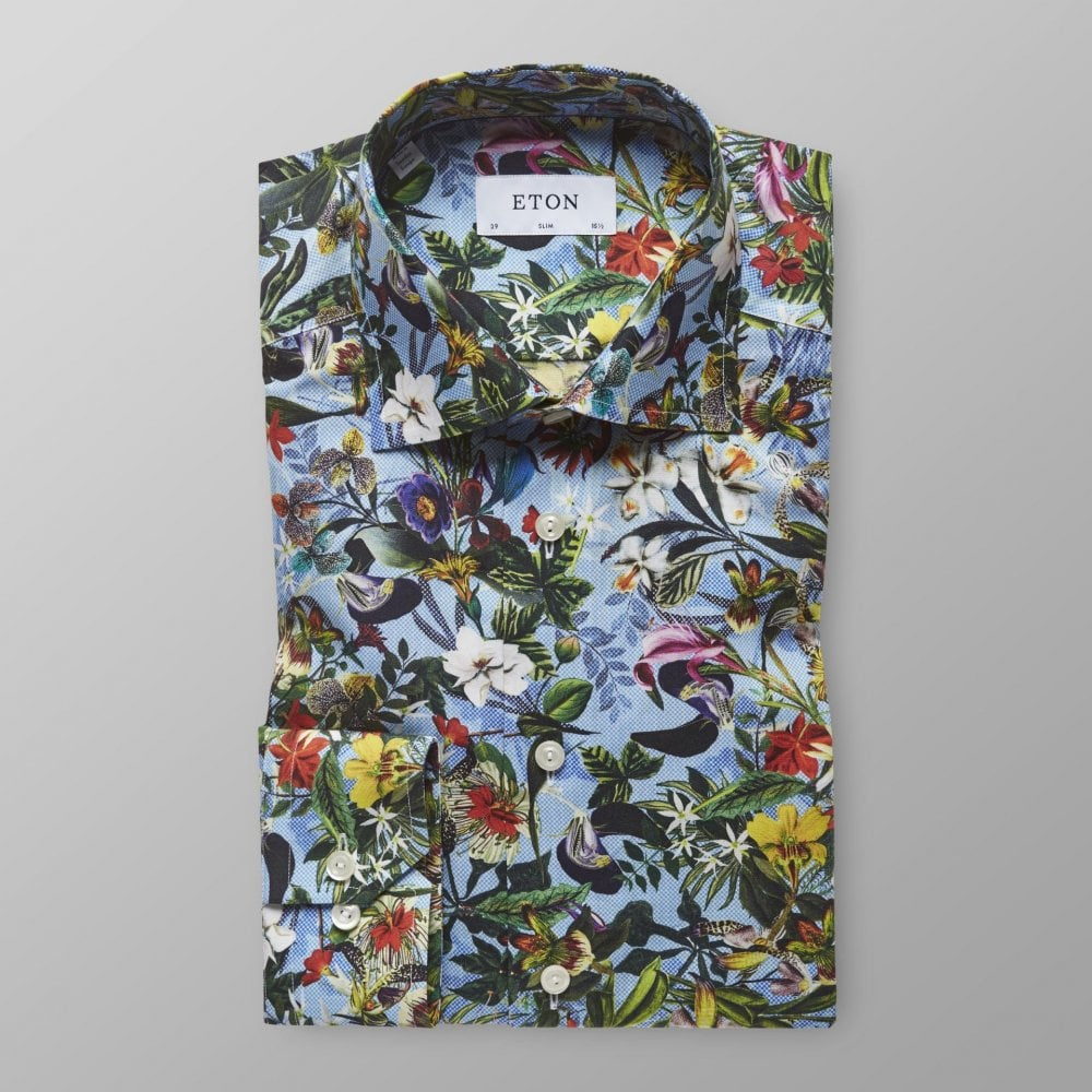 2a1bfb2d Eton Slim Fit Floral Design Print Shirt