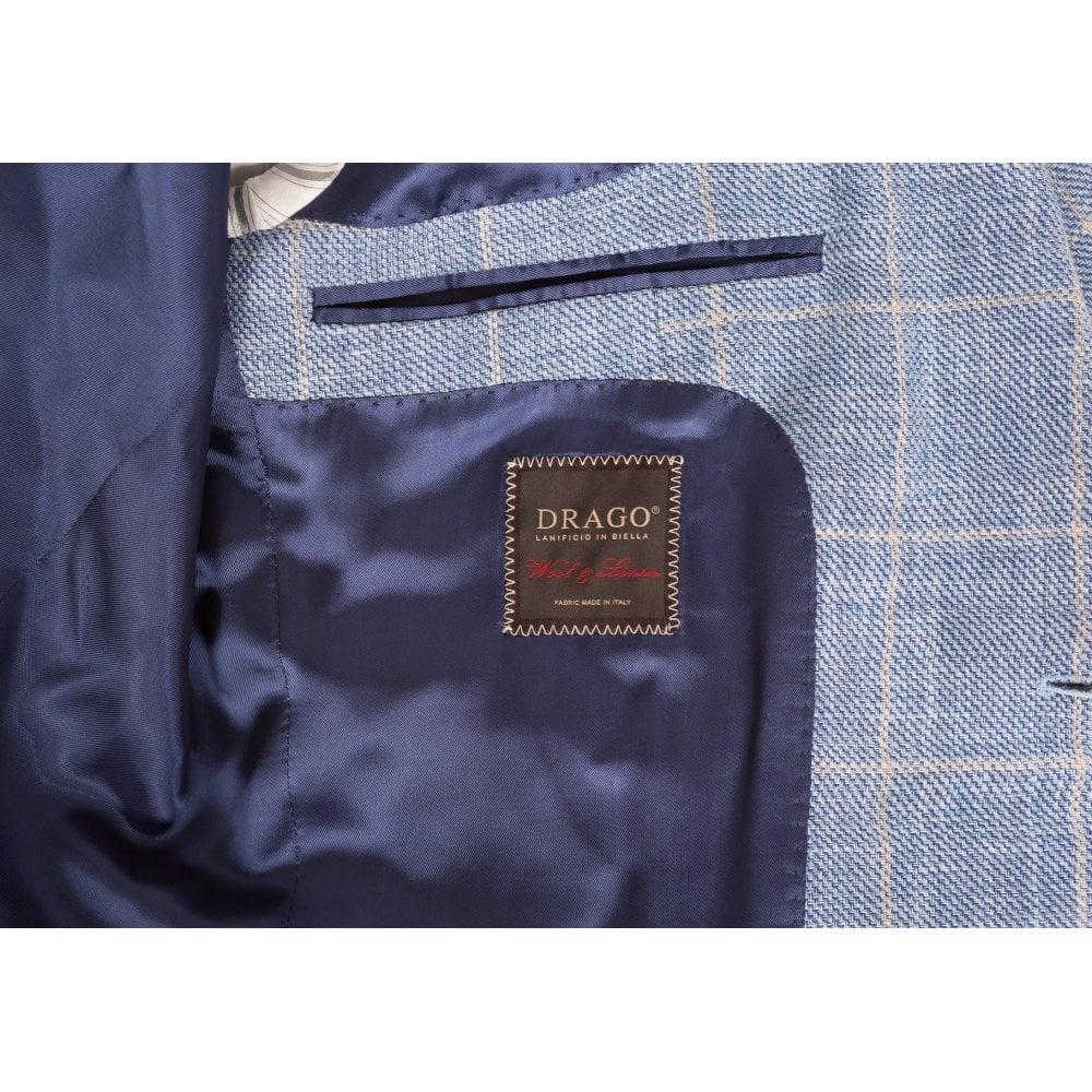 Drago Linen & Wool Blend Check Jacket